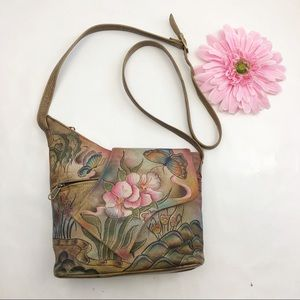 Anushka Asymmetric Flap Leather Crossbody Bag